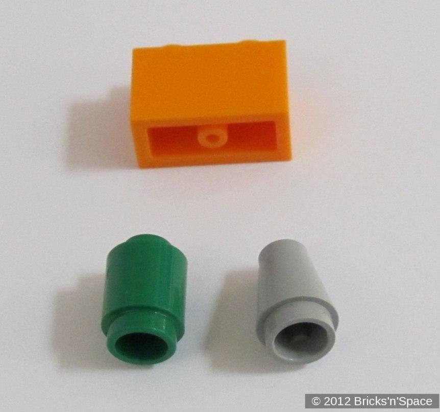 Un cono, un cilindro ed un mattoncino